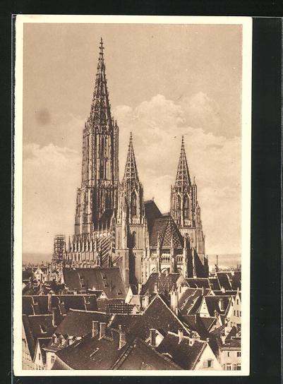 AK Ulm a. d., Münster, Ganzsache WHW Winterhilfswerk