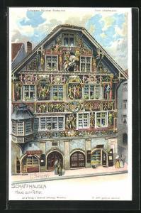 Künstler-AK C. Steinmann: Schaffhausen, Haus zum Ritter
