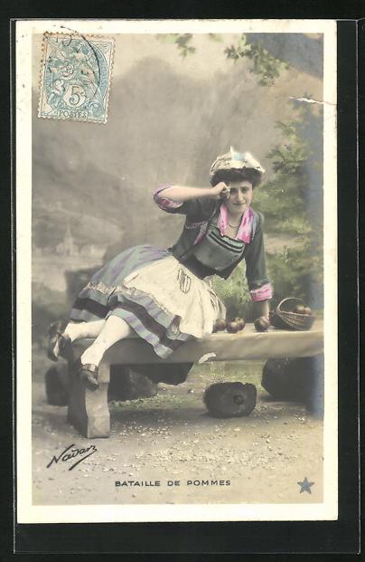 Foto-AK Nadar Nr. 845: Bataille de Pommes