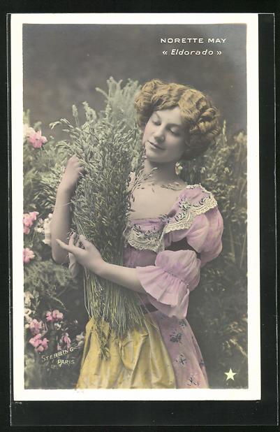 Foto-AK Stebbing: Schauspielerin Norette May in Eldorado