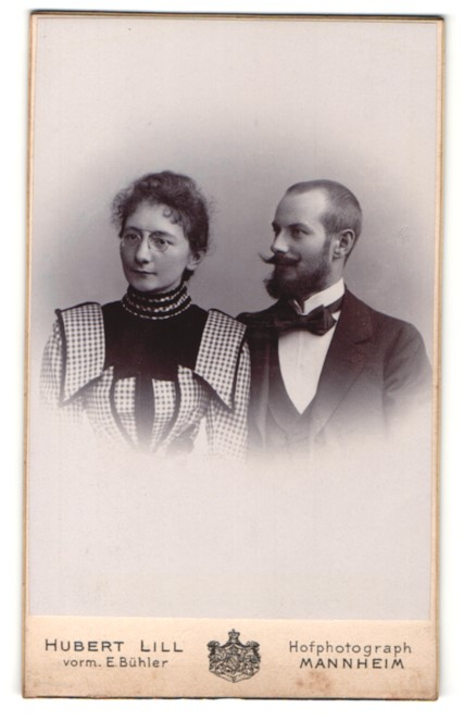 Fotografie Hubert Lill, Mannheim, Portrait bürgerliches junges Paar