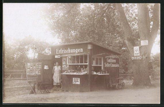 Foto-AK Wendisch-Rietz, Kiosk und Ansichtskarten-Laden am Glubigsee