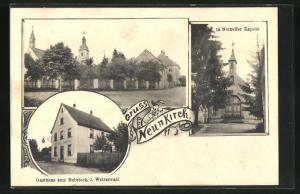 AK Neunkirch, Gasthaus zum Rebstock, Nothelfer Kapelle, Mehrfachansicht