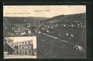 AK Lorsbach i. Taunus, Gasthaus zum Lorsbacher Thal, Ortsansicht