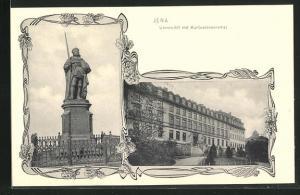 AK Jena, Universität mit Kurfürstendenkmal