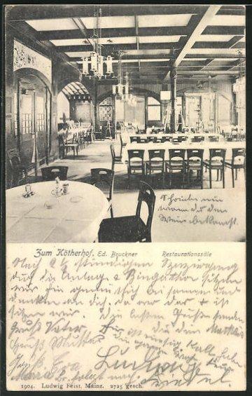 AK Mainz, Innenansicht vom Kötherhof, Restaurationssäle