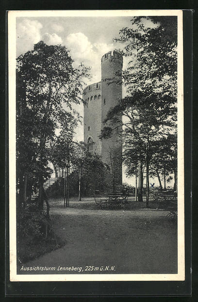 AK Gonsenheim, Blick auf den Aussichtsturm Lennenberg