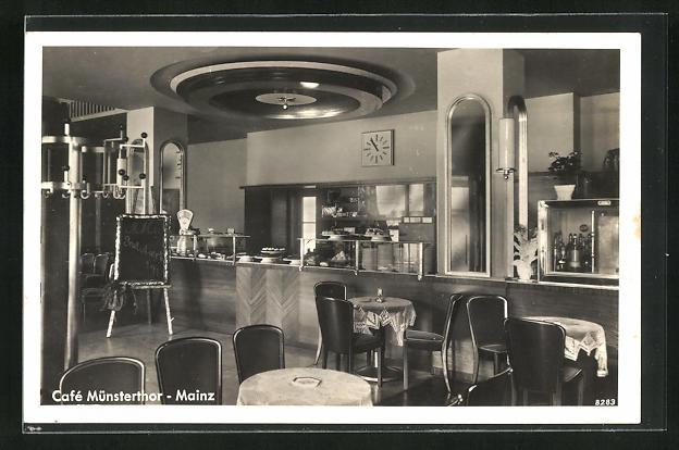 AK Mainz, Cafe Münstertor, Innenansicht