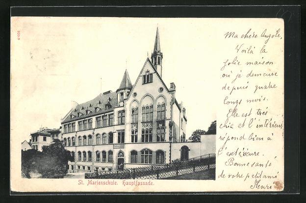 AK Mainz, St. Marienschule, Hauptfassade