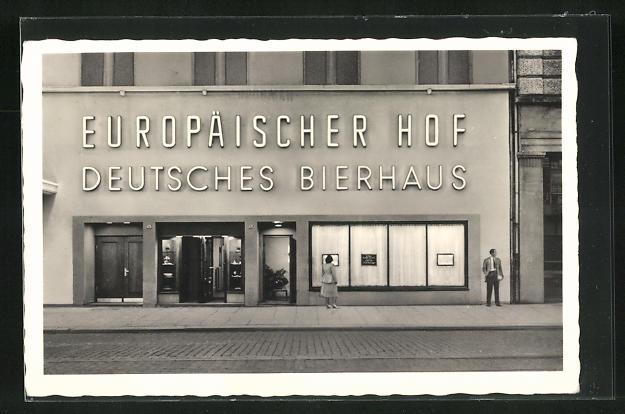 AK Hamburg-St. Georg, Hotel Europäischer Hof, Kirchenallee 43