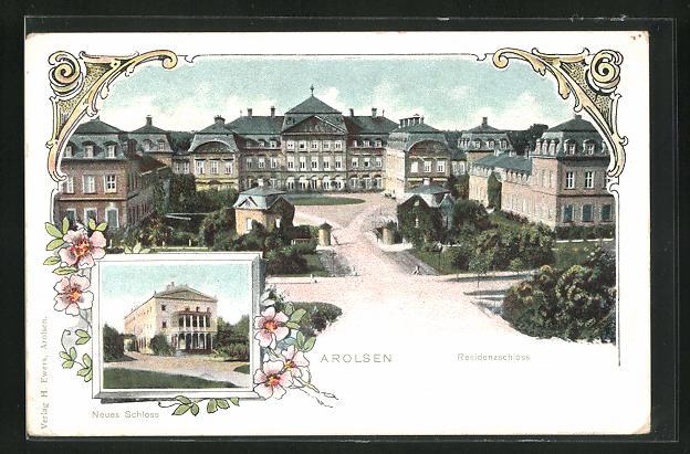 AK Arolsen, Neues Schloss, Residenzschloss