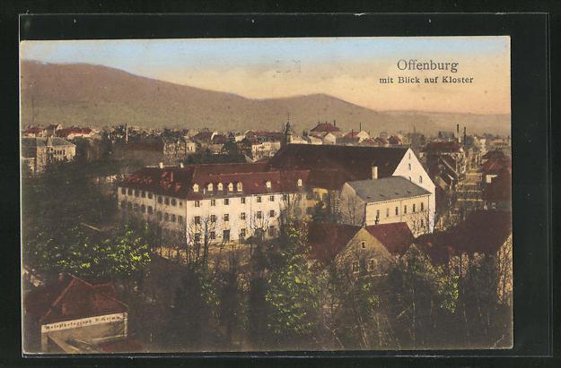 AK Offenburg, Teilansicht mit Blick auf das Kloster