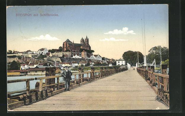 AK Breisach, Teilansicht mit Schiffbrücke