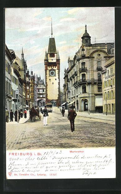 AK Freiburg i. Br., Martinsthor