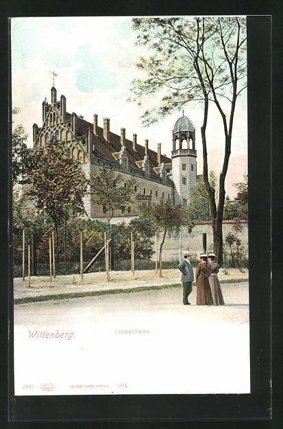 AK Wittenberg, Blick zum Lutherhaus