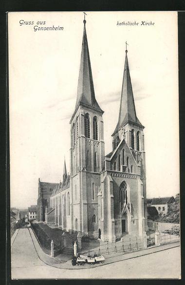 AK Gonsenheim, Ansicht der Katholischen Kirche