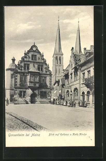 AK Gonsenheim, Rathaus und Kath. Kirche