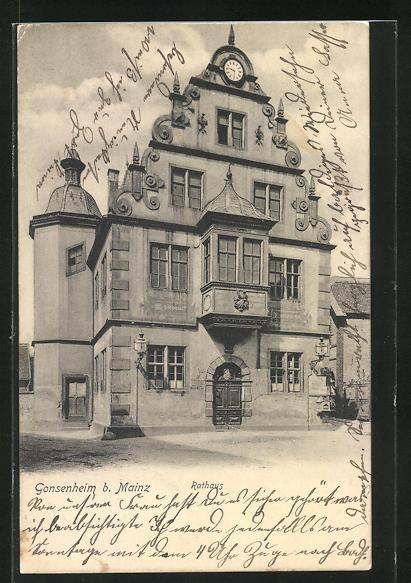 AK Gonsenheim, Ansicht vom Rathaus