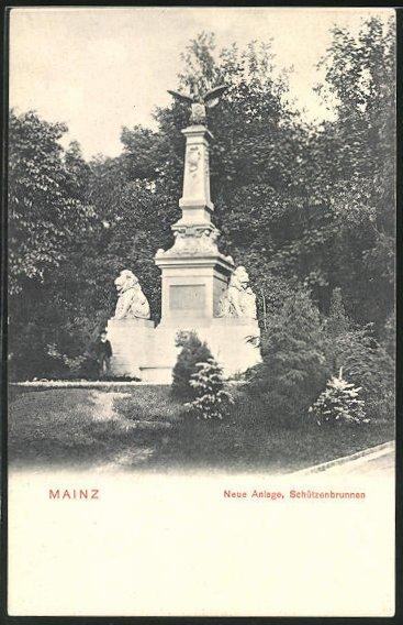 AK Mainz, Neue Anlagen, Schützenbrunnen