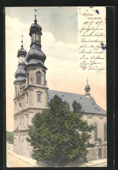 AK Mainz, Ansicht der Peterskirche