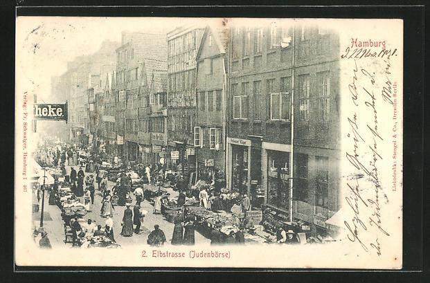 AK Hamburg, Judenbörse auf der Elbstrasse