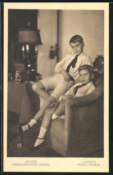 AK Prinz Ludwig und Grossherzog Georg von Hessen
