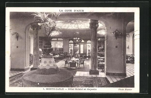 AK Monte-Carlo, Hotel Bristol et Majestic, Innenansicht