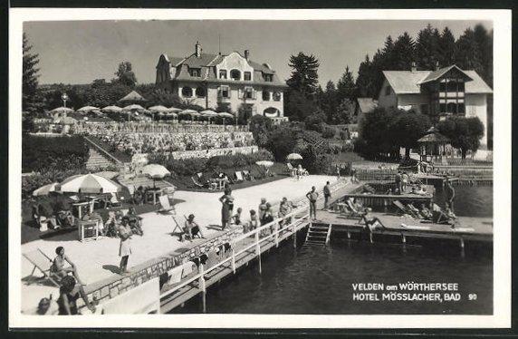 AK Velden am Wörthersee, Hotel Mösslacher und Bad