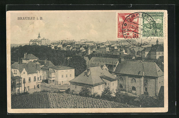 AK Braunau i. B., Teilansicht der Stadt