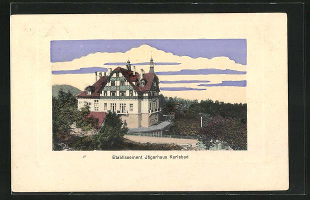 AK Karlsbad, Hotel Etablissement Jägerhaus