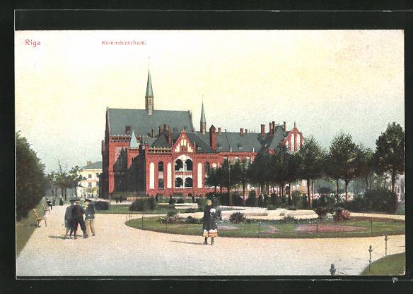 AK Riga, Kommerzschule