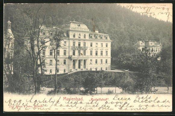 AK Marienbad, Hotel Rudolfshof