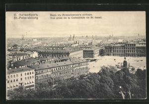 AK St.-Petersbourg, Vue prise de la Cathedrale de St. Isaac