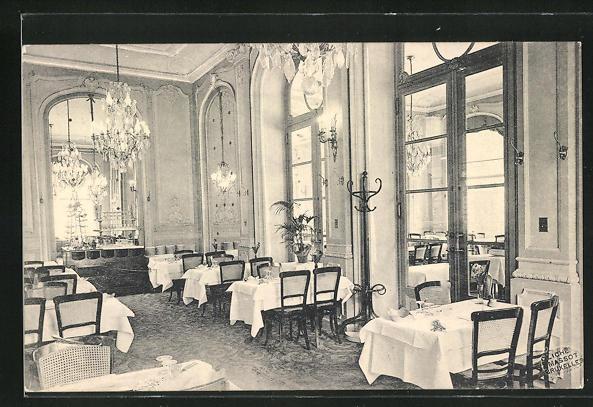 AK Brüssel / Bruxelles, Restaurant La Regence, 1 et 3 Rue de la Regence, Innenansicht
