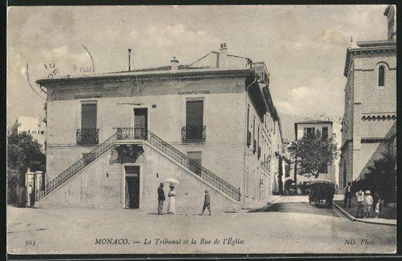 AK Monaco, Le Tribunal et la Rue de l`Eglise