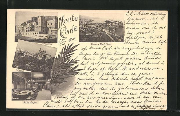 AK Monte Carlo, Palais du Prince, Casino, Salle de jeu, Monaco
