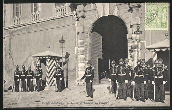 AK Monaco, Palais de Monaco, Garde d`Honneur du Prince