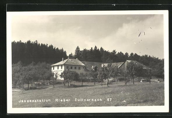 AK Tullnerbach, Jausenstation Rieger