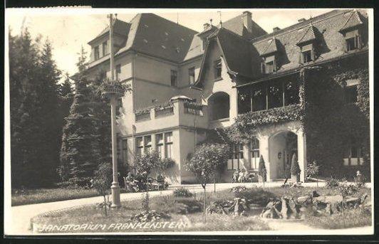 AK Rumburg / Rumburk, Ansicht vom Sanatorium Frankenstein