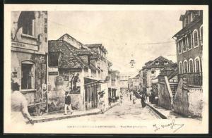 AK Saint-Pierre-la-Martinique, Une Rue Principale, Strassenansicht