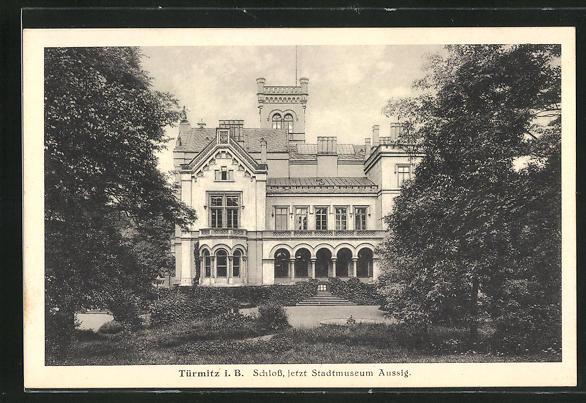AK Turmitz i. B., Schloss, jetzt Stadtmuseum Aussig