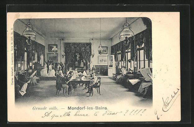 AK Mondorf-les-Bains, Grande salle, Innenansicht