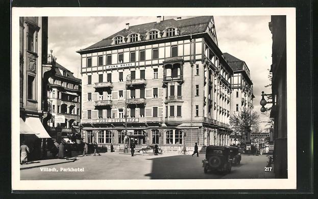 AK Villach, Parkhotel, Strassenansicht