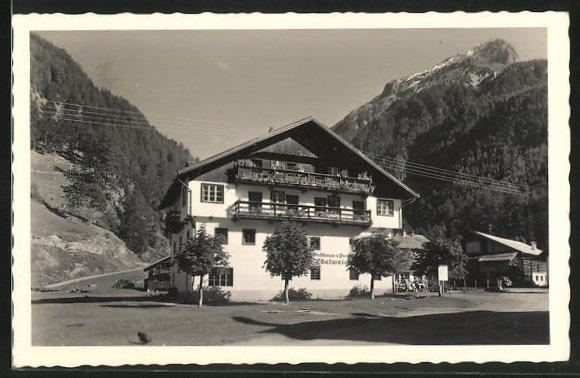 AK Unter-Längenfeld, Gasthof Edelweiss