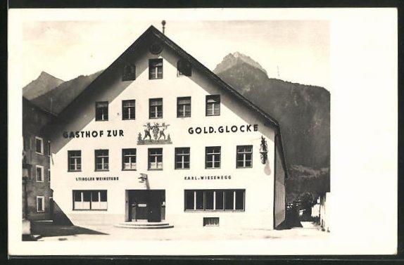 AK Reutte, Gasthof zur goldenen Glocke