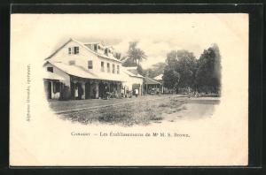 AK Conakry, Les Etablissements de Mr. M.S. Brown, Gebäudeansicht