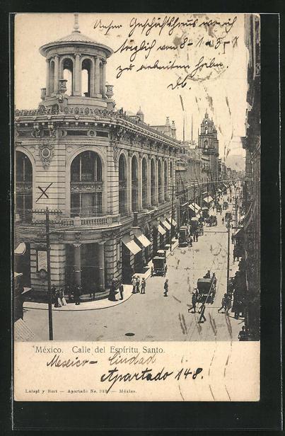AK Mexiko-Stadt, Calle del Espiritu Santo