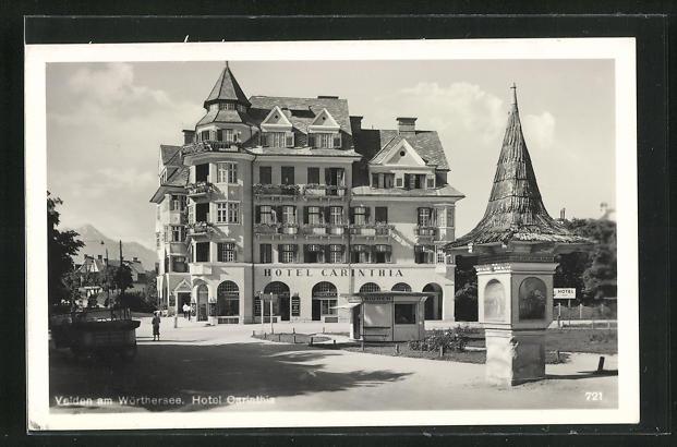 AK Velden am Wörthersee, Ansicht vom Hotel Carinthia