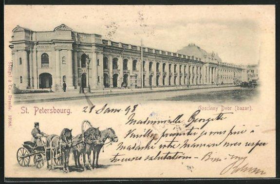 AK St. Petersburg / St-Pétersbourg, Goscinny Dvor (Bazar)