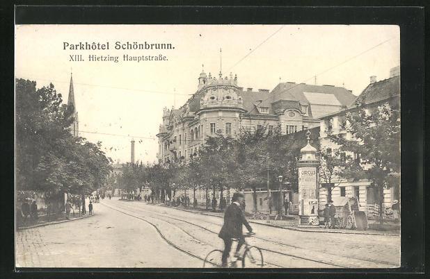 AK Wien-Hietzing, Parkhotel Schönbrunn, Hauptstrasse